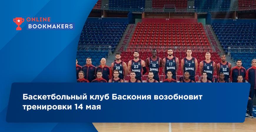 Баскетбольный клуб Баскония возобновит тренировки 14 мая